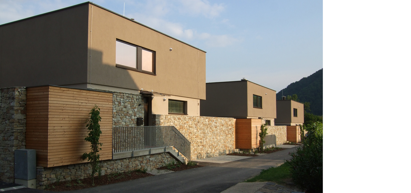Residential buildings adapted to the surroundings,