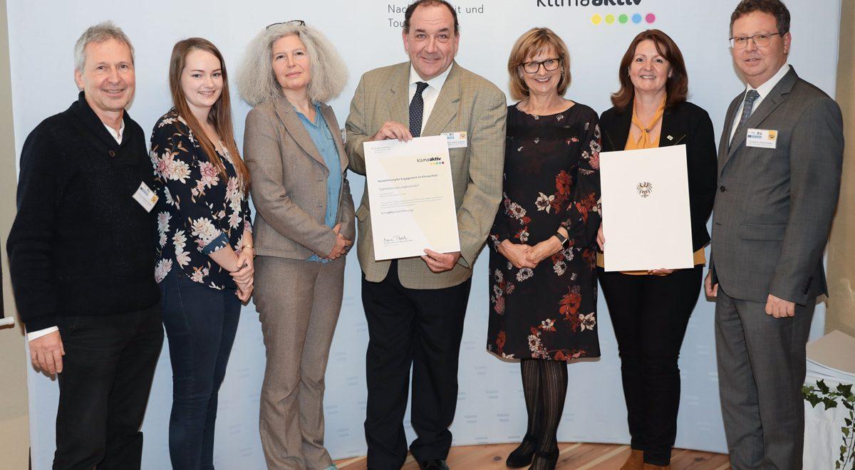 klimaaktiv GOLD für AH3 Projekt Tagesbetreuung Langenzersdorf